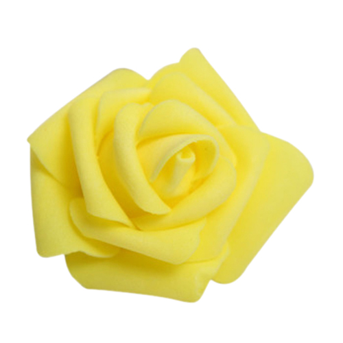 NFLC 100PCS Foam Rose Flower Bud Wedding Party Decorations Artificial Flower Diy Craft Yellow(China (Mainland))