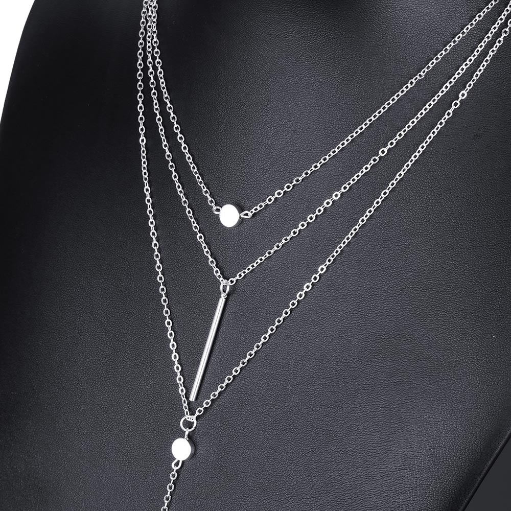 Tomtosh Women Necklaces Amp Pendants 3 Multi Layer Necklace