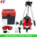 KaiTian Laser Level Tripod with 360 Rotary Outdoor Tilt Function Euro Plug 635nM Self Leveling 3