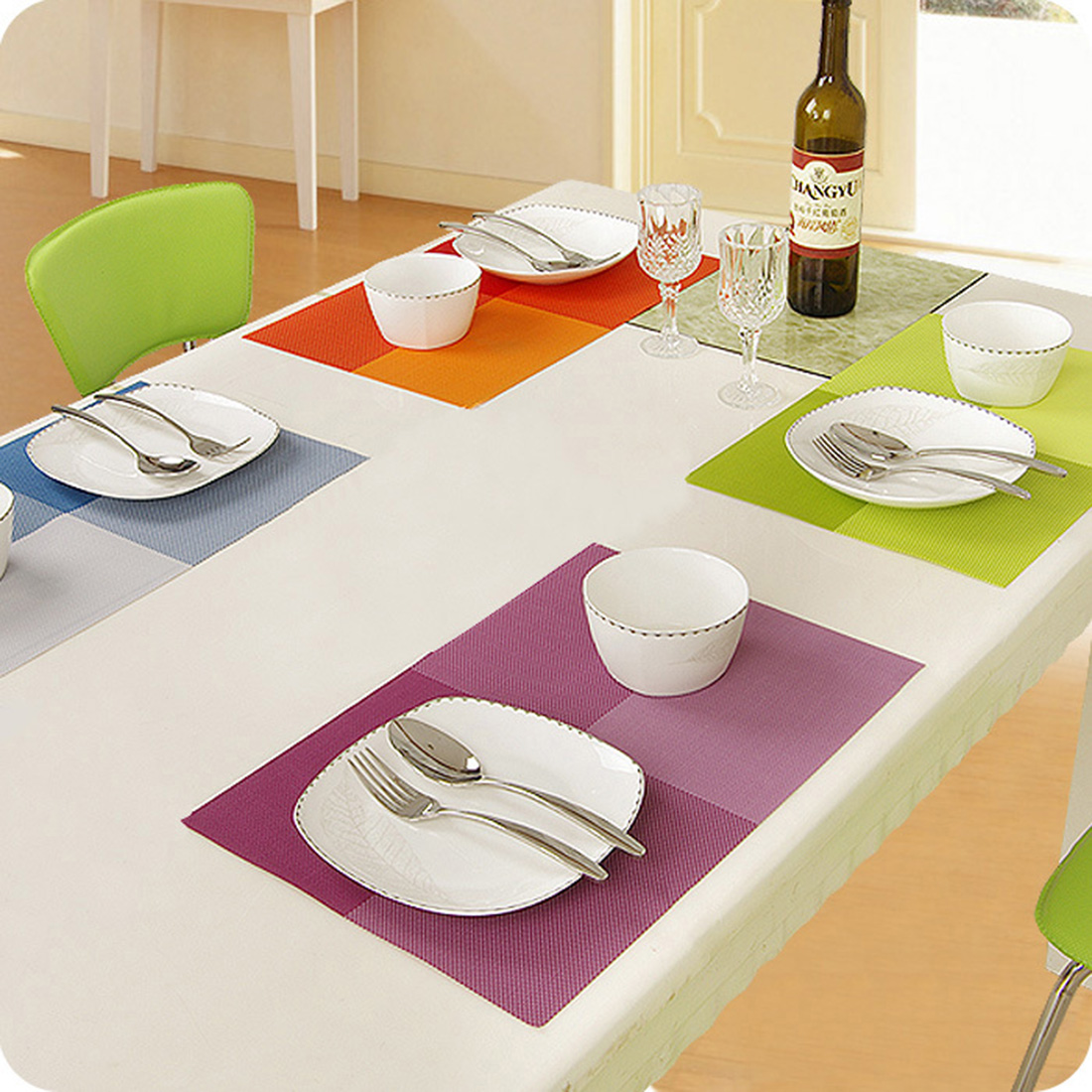 1pcs European Style dining table mat Dinner Placemats waterproof table cloth Kitchen Dining Bar Accessories Tools 8 Colors(China (Mainland))