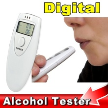 2016 Prefessional Police Portable Breath Alcohol Analyzer Digital Breathalyzer Tester Body Alcoholicity Meter Alcohol Detection
