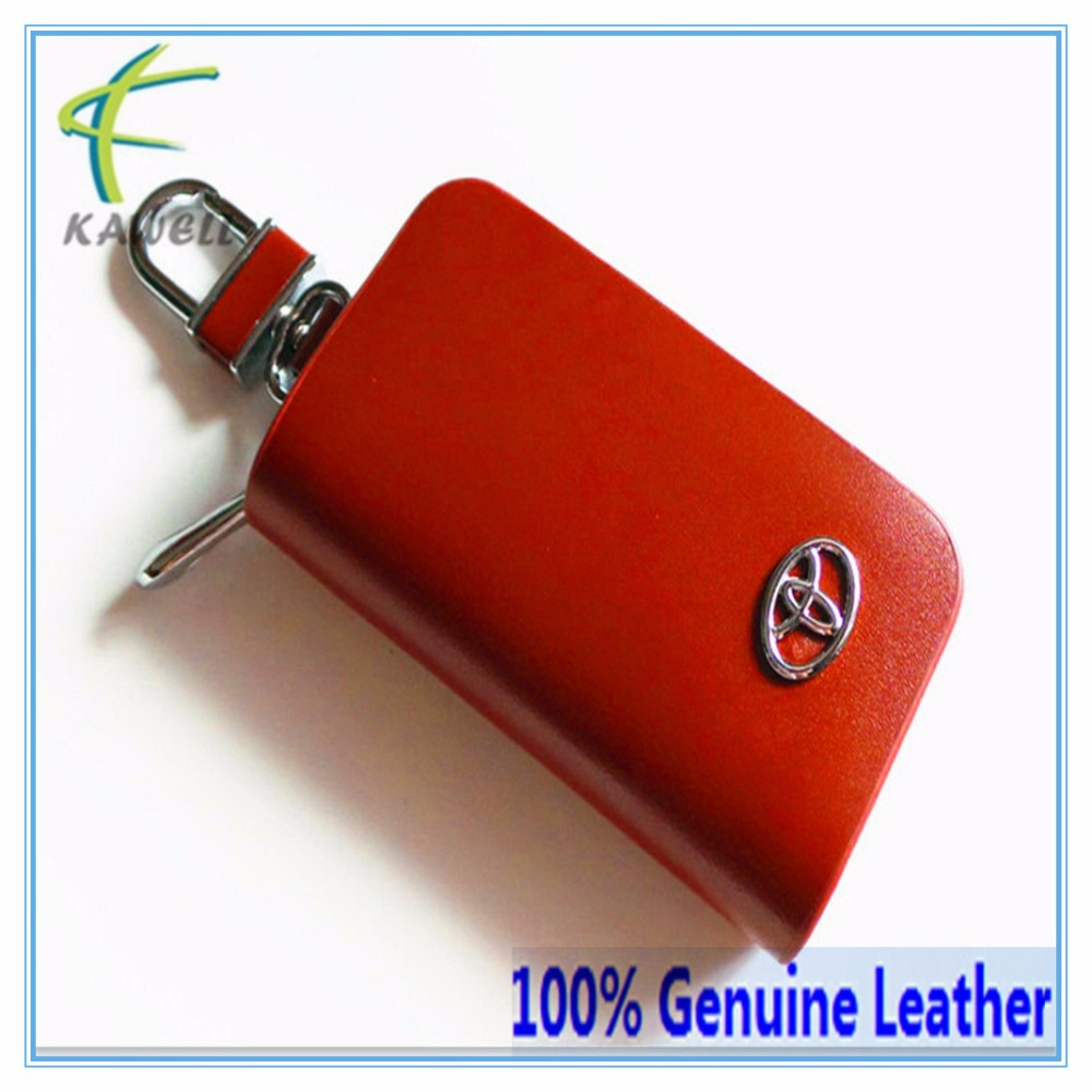 100% Genuine Leather Car Keys Case Rings for TOYOTA REIZ CAROLA and all Vehicle Model Free Shipping(China (Mainland))
