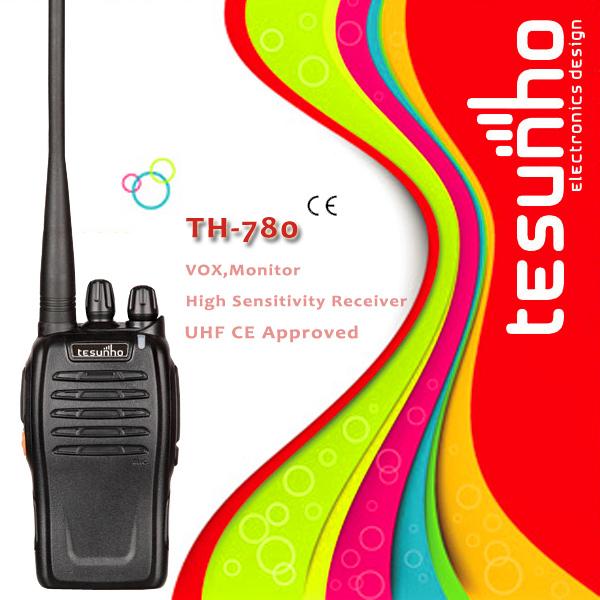 TESUNHO TH-780 ultra compact design durable handheld security uhf high tech walkie talkie radio(China (Mainland))