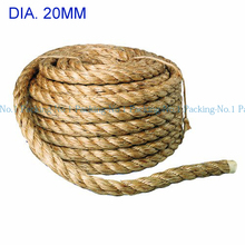 10meter/lot -32ft dia. 20mm Twine Cord Hemp Jute Rope String Gift Packing Hang Tag String For Handmade Accessory DIY jute cord(China (Mainland))