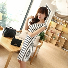 Buy 2017 Party Clothes Slim Women'S Stripe Short Sleeve Size Ladies Summer Beach Long Casual Dresses Clothing Women Stylish Dress for $5.96 in AliExpress store