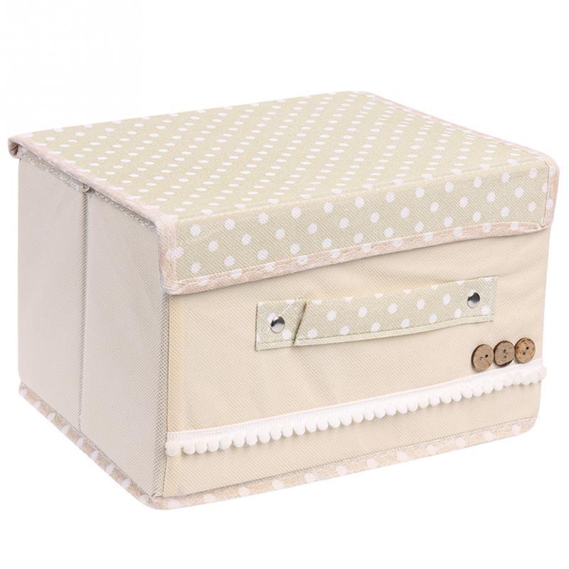Trumpet Non-Woven Fabric Debris Storage Box For Collection Pastoral Cloth Underwear Socks Drawer Closet Organizer Box(China (Mainland))