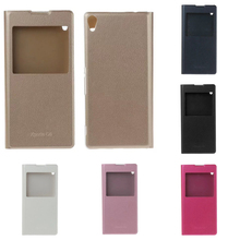 Buy For Sony Xperia XA Ultra Phone Case Luxury View Window Wallet Flip Cover Case Ultra thin Leather case With Stand for $4.49 in AliExpress store