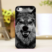 pz0012-17 fierce wolf Design Customized cellphone transparent cover cases for iphone 4 5 5c 5s 6 6plus Hard Shell