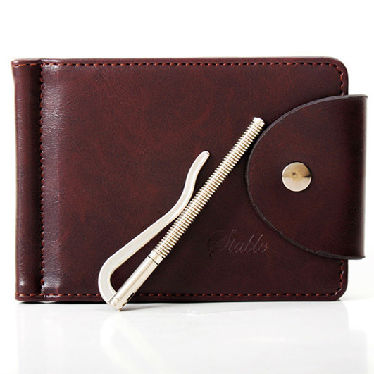 Mens genuine leather wallet Thin Mini Pocket Jeans Wallets Chic Useful Designer Money Clip Credit Card Case Bag Cash/ID Holder(China (Mainland))