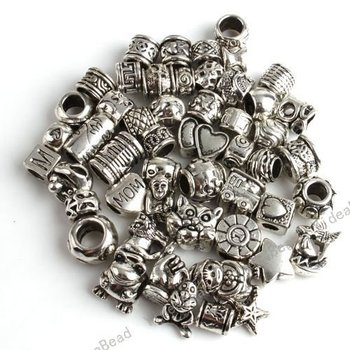 100pcs Mixed Assorted Alloy Charms Beads Fit Bracelet Necklace Jewelry Accessories DIY beads 151315