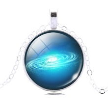 Fahion Star Universe Cabochon Galaxy Necklace Pendant Chain Necklace Hot Slae Jewelry Women Men Drop Shipping