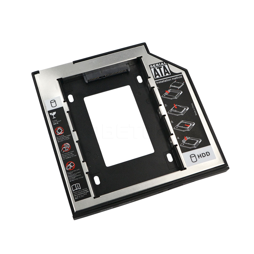 Brand New 2.5 2nd 9.5mm Ssd Hd SATA Hard Disk Drive HDD Caddy Adapter Drive Bay Aluminum Plastic For Cd Dvd Rom Optical Bay