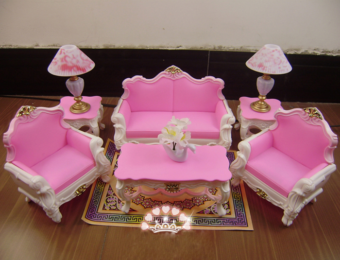 Compra barbie muebles de la sala online al por mayor de for Muebles para barbie