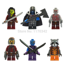 Wholesale Decool 0175-0180 Guardians Of The Galaxy Figures Super Hero Building Blocks Sets Model Toys Minifigures