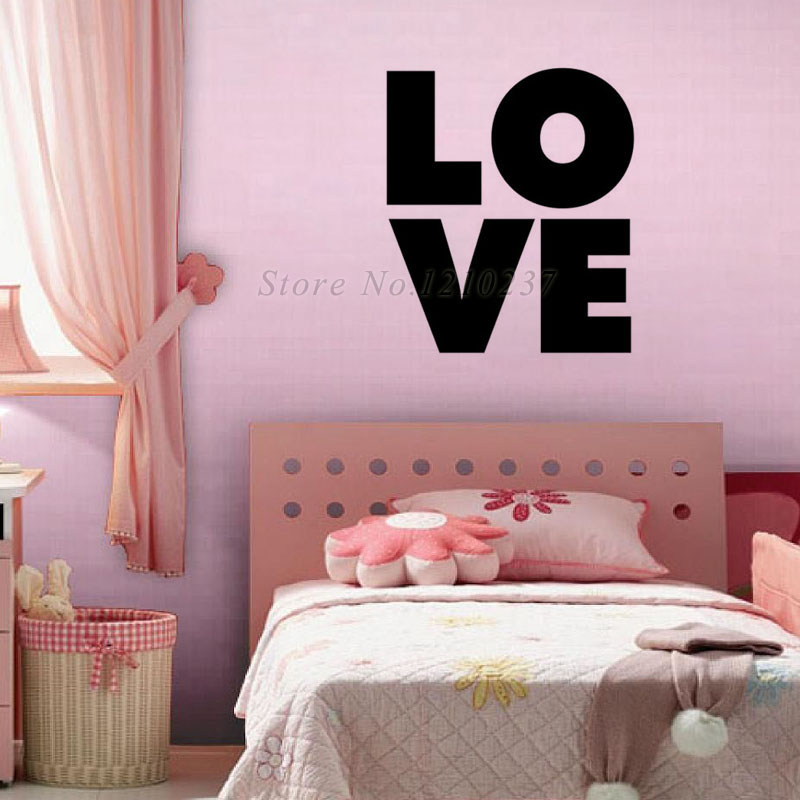 DCTOP Newest Design DIY LOVE Wall Stickers Home Decor Vinyl Waterproof Wall Decals Modern Home Accessories(China (Mainland))