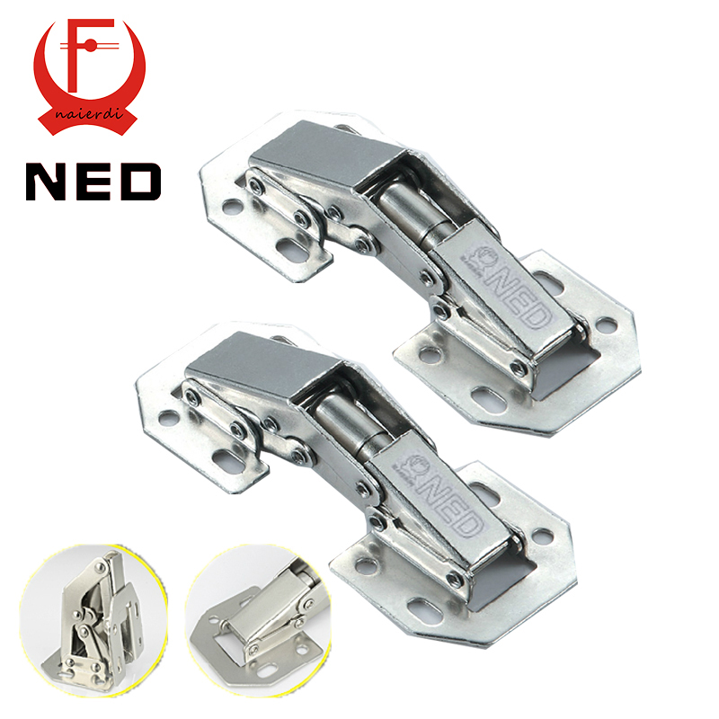 NED-A99 90 Degree 3 Inch No-Drilling Hole Cabinet Hinge Bridge Shaped Spring Frog Hinge Full Overlay Cupboard Door Hinges(China (Mainland))