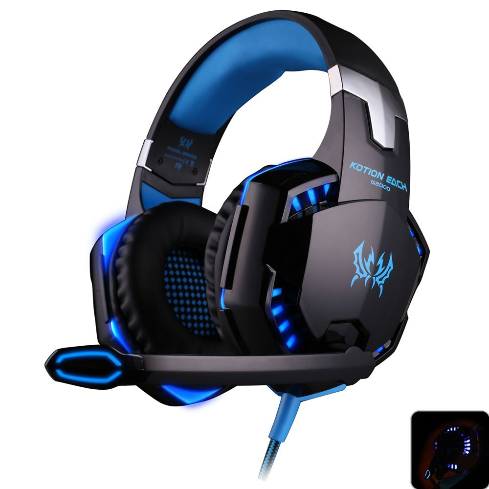 HUSOAR Deep Bass Game Headphone Stereo Surrounded Over-Ear Gaming Headset Headband Earphone with Light for Computer PC Gamer(China (Mainland))