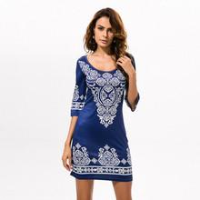 Buy 2017 Hot Sexy Summer Dress Women Boho Robe Long Party Maxi Beach Dresses Print Bodycon Bandage Vintage Vestidos de festa Vadim for $11.00 in AliExpress store
