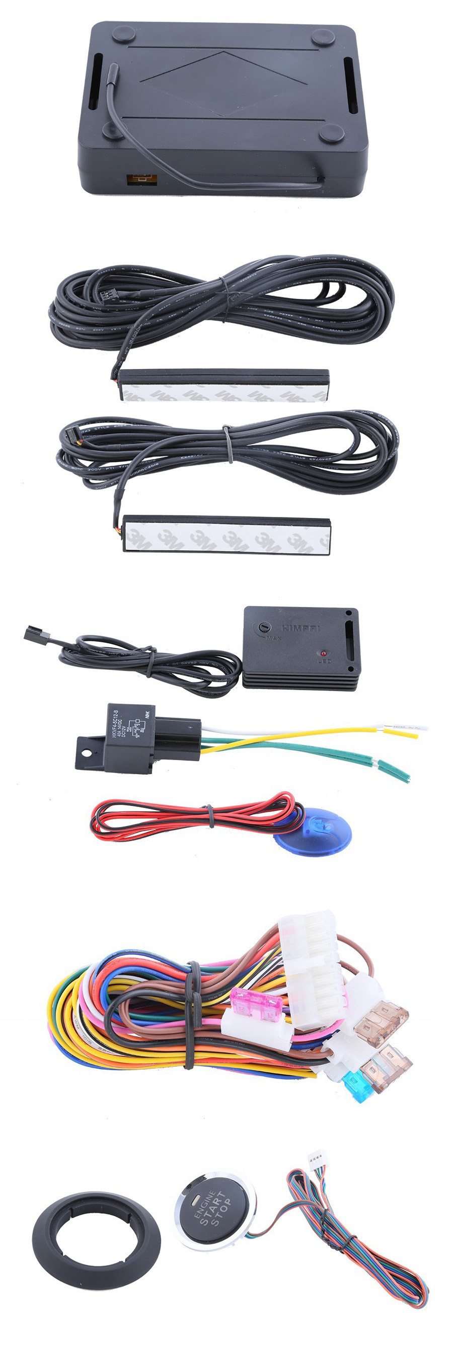 PKE Car Alarm System Remote Lock Unlock The Cars, Passive Keyless Entry, Remote Trunk Release With Shipping Free