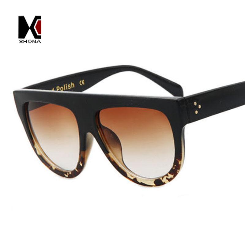15 Colors Metal Hinge Flat Top Retro Women Large Gradient Frame Sunglass Classic Men Clear Lens Sunglasses UV400