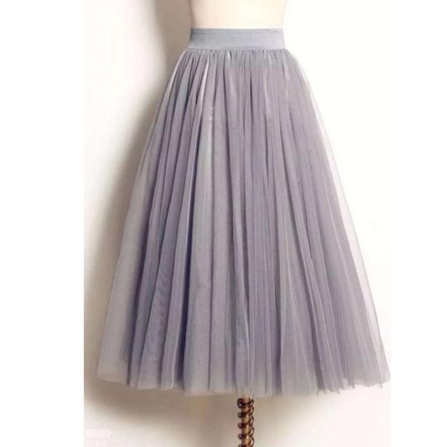 Юбки женщин 2016 лолита лето макси юбка сетка тюль юбки KB1040
