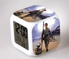 Minecraft The Force Awakers Star wars 7 BB-8 Elsa Alarm Clock Digital Klokken Electronic Desk Watch Relogio De Mesa Wake Up
