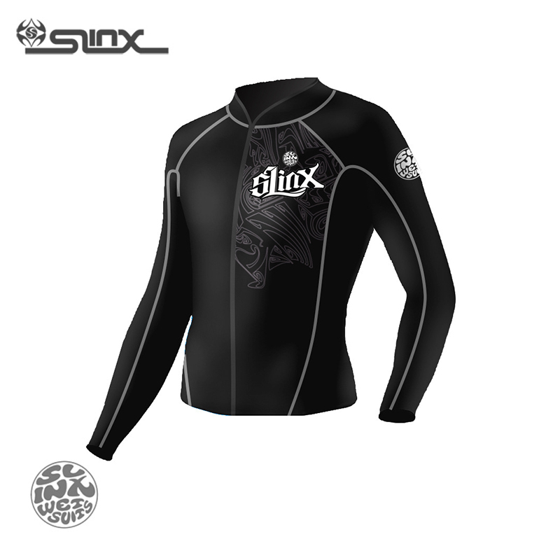 SLINX 1401 2mm Neoprene Men Snorkeling Spearfishing Kite Surfing Windsurf Keep Warm Jacket Swimwear Wetsuit Scuba Diving Suit(China (Mainland))