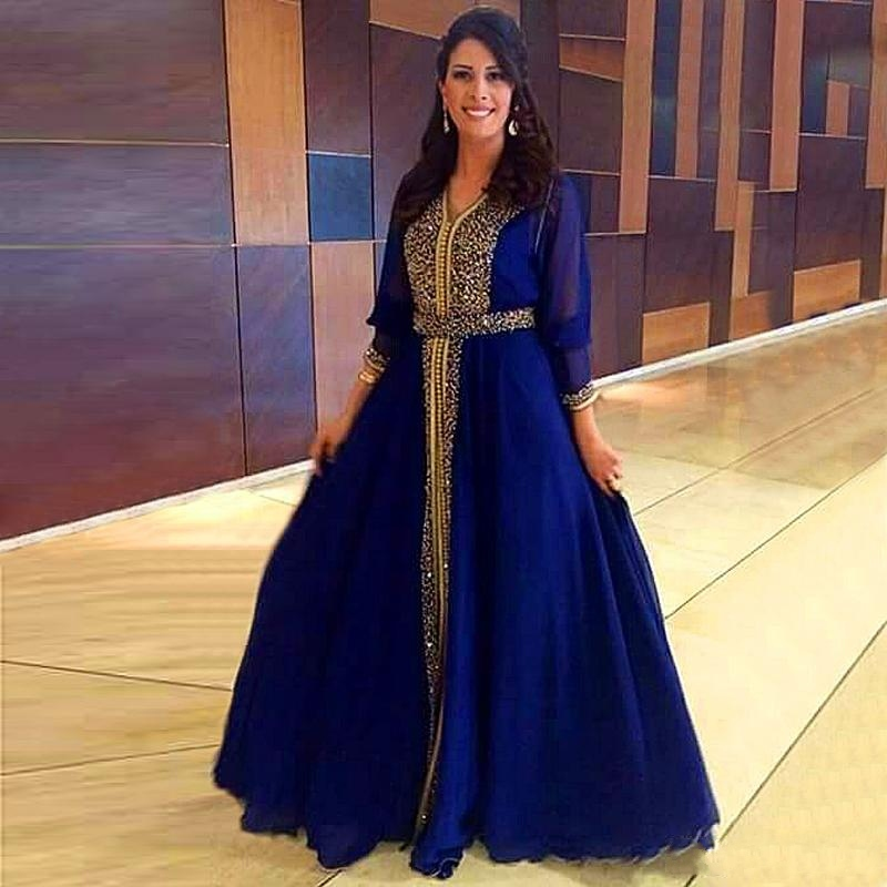2016 arabe musulmane manches longues robe de mariage robe hijab duba marocaine bleu royal. Black Bedroom Furniture Sets. Home Design Ideas