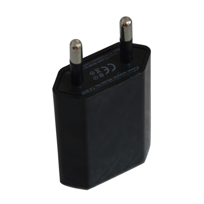 Black 5V 1A EU AC Travel USB Wall Charger for iPhone 5 4 4S for Samsung Galaxy S3 S4 for HTC Phone Adapter(China (Mainland))