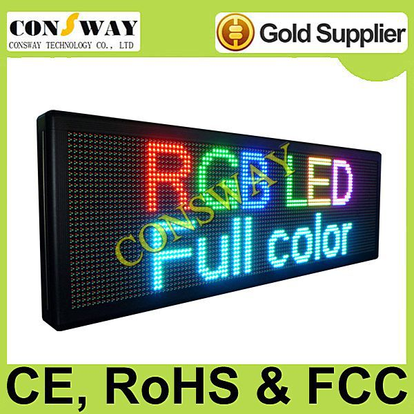 """FedEx FREE and CE approved shipping led moving message board with RGB full color and size 15.7""""*47.2""""(China (Mainland))"""