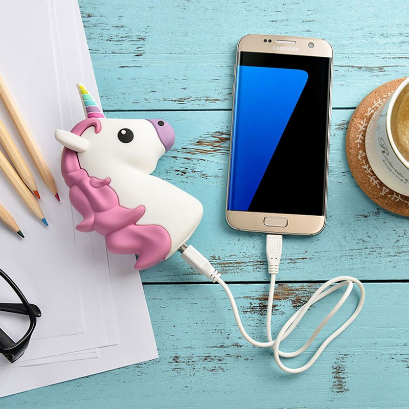New Cartoon power bank unicorn kiss feces demon Emoji Power bank Portable Charger Battery pack for iphone/SAMSUNG/XIAOMI/HUAWEI