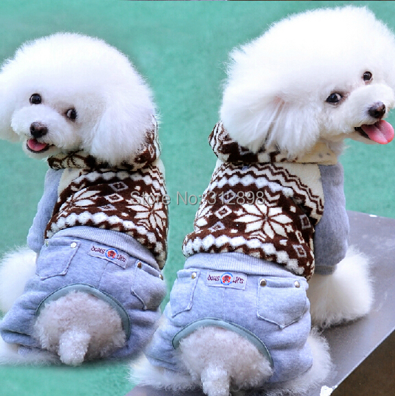 On Sale Snow Fleece Windproof Black/White Puppy Chihuahua Clothes For Dogs And Pets DF-A3028 Cat Overall Supplies(China (Mainland))
