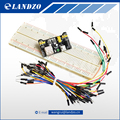 MB102 Breadboard power module MB 102 830 points Solderless Prototype Bread board kit 65 Flexible jumper