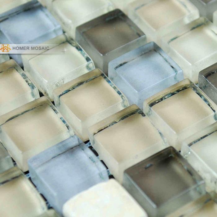 light blue mixed  gray glass  tile bathroom mosaic tiles kitchen backsplash mosaic tile free shipping<br><br>Aliexpress