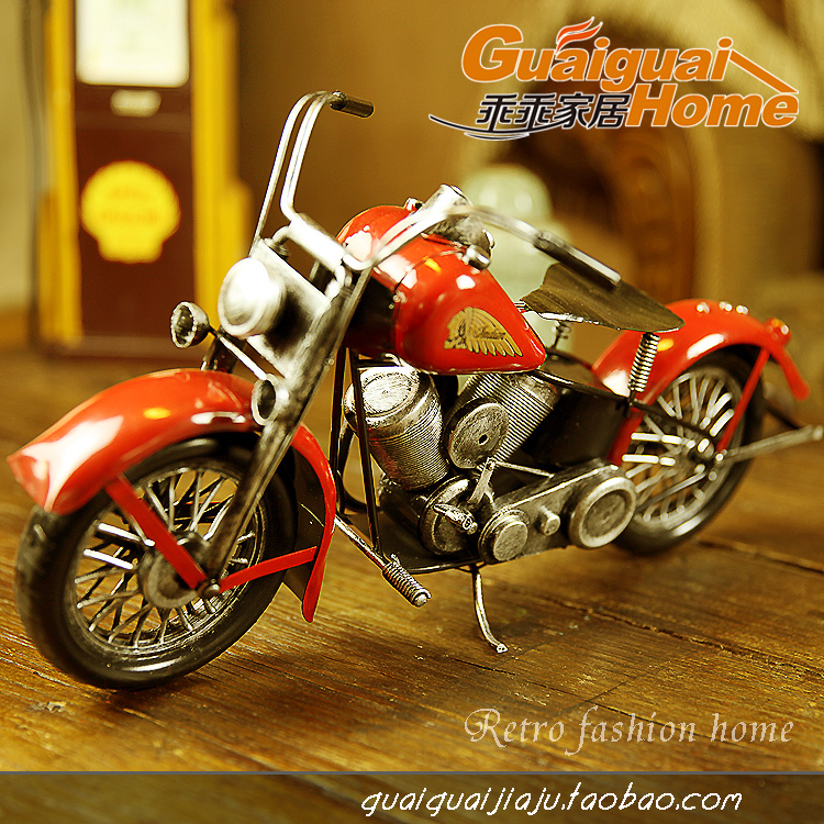 Metal handmade motorcycle model home accessories nostalgic vintage decoration gift(China (Mainland))