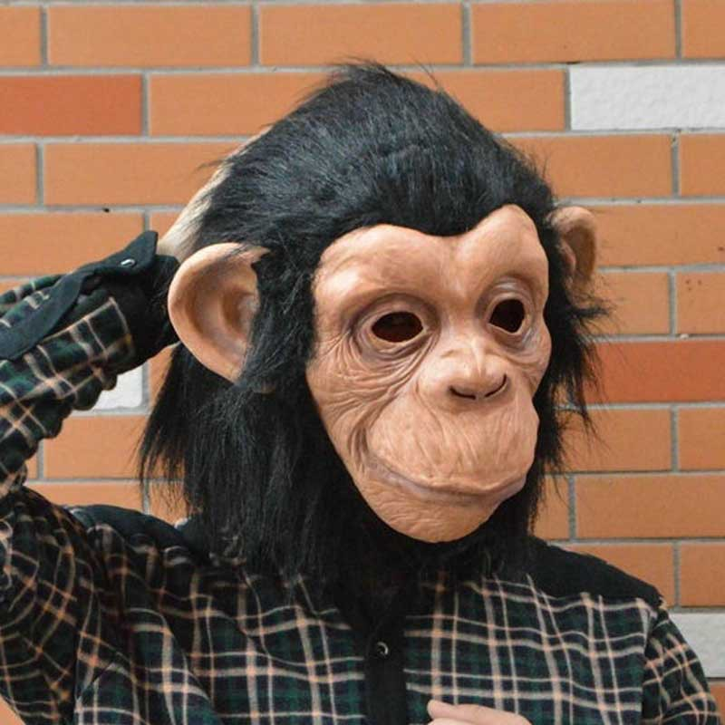 DO00 Soft Rubber Monkey Mask Silicon Gorilla Shaggy Masks Wig For Party Cosplay Holiday(China (Mainland))