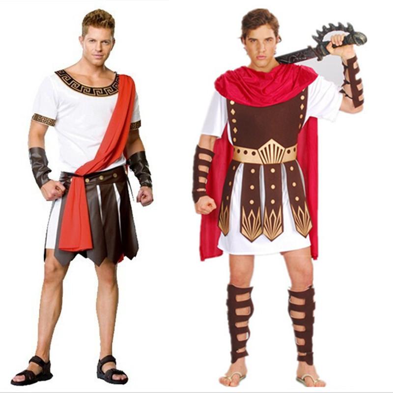 Ancient Roman Warrior Costumes Masquerade Party Men Costume Gladiators Knight Julius Caesar Adult Cosplay Theme Couple Cotume