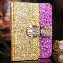 Luxury Bling Leather Case for Huawei U8836D G500 Pro U8832D High Quality Flip Cover for Huawei Ascend G500 Case with Card Holder(China (Mainland))