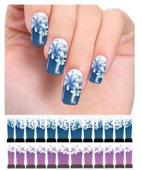 wholesale 2013  Popular Water transfer printing nail art stickers abstract nail art stickers Retro flower styles
