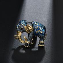 Terreau Kathy Dello Smalto Elephant Spille Spilli Gioielli In Oro-Delle Donne di colore di Abbigliamento Sciarpa Accessorio di Cristallo Del Rhinestone Brooch Animale(China)