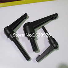free shipping 50mm Lever Length 5mm Female Thread Dia Adjustable Clamping Handle(China (Mainland))