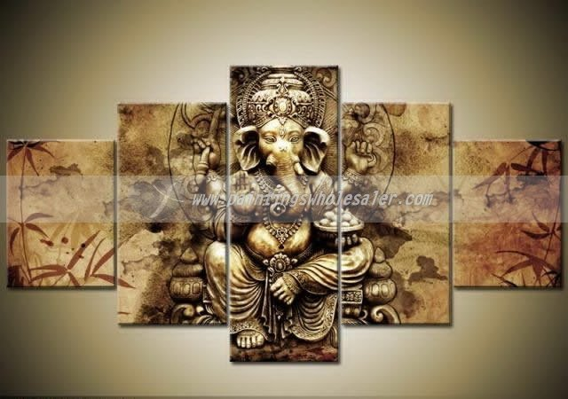Lord Ganesha Oil Paintings God Ganesha Oil Paintings