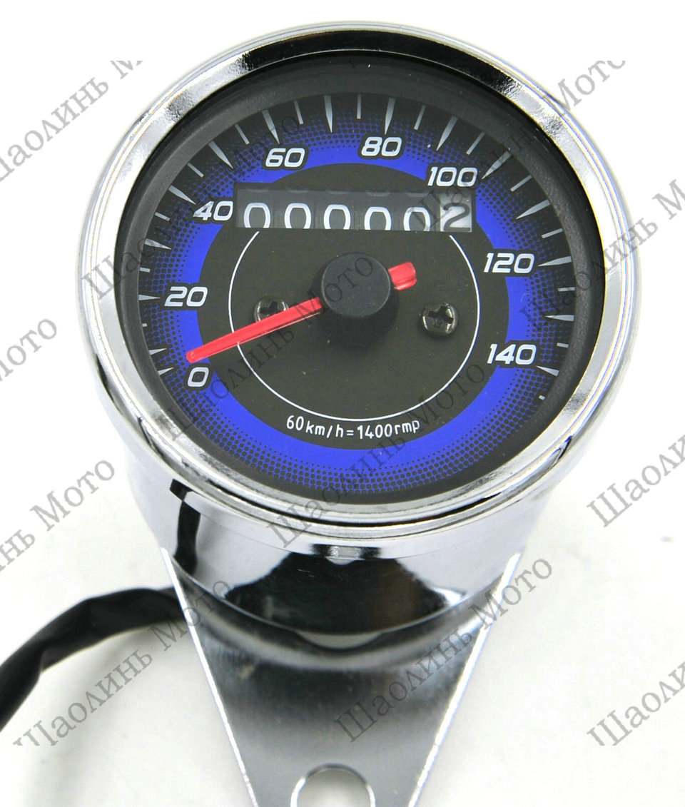 Vintage Chrome LED CAFE RACER BOXER TWIN BOBBER TRACKER Motorcycle Odometer Speedometer Gauge Miles Speed meter Free Shipping(China (Mainland))