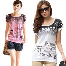 Plus size women print T shirt camisas femininas European basic 2016 summer style short sleeve O-Neck Shirts Loose casual tops(China (Mainland))
