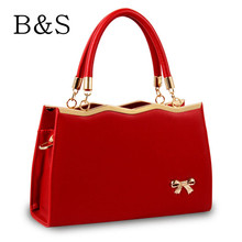 Luxury Women Designer Handbag High Quality Brand PU Leather Metal Bow Decoration Shoulder Over Bags Female Famous Kabelky 2016