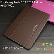 Buy 2015 HOT Protective Skins Book Cover Case Samsung Galaxy Note (2014 Edition) 10.1'' P600/P601 + free Stylus + OTG cable for $8.53 in AliExpress store