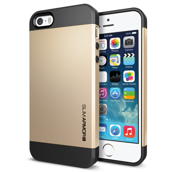 200pcs phone cases SLIM ARMOR SPIGEN SGP Cell Phone hard back case Cover for Apple iPhone 5 5S case with Free shipping