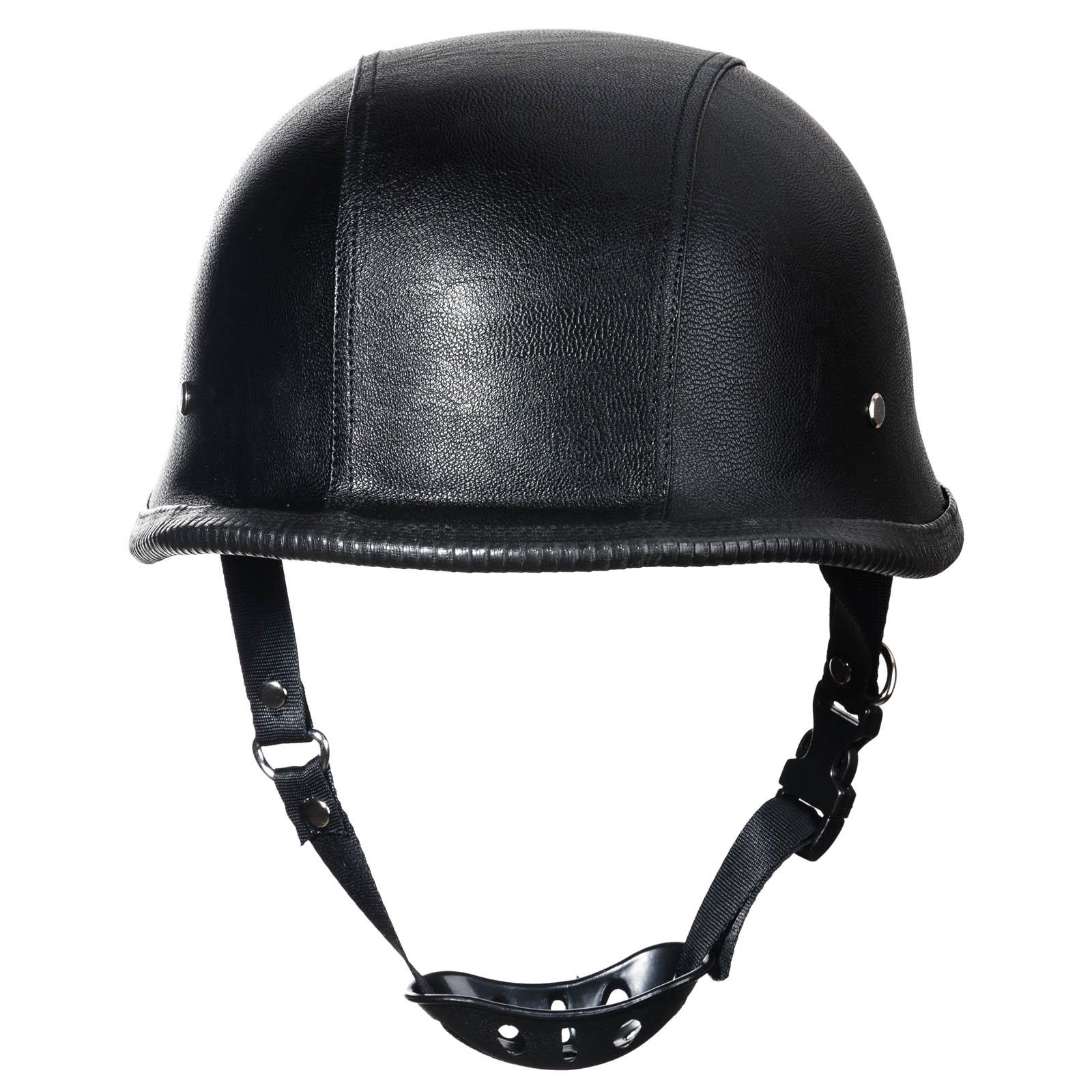 2016 New WWII German Style Dot Motorcycle Helmet Black Vintage Half Face Motorcycle Helmet For Chopper Motorcycle Size L