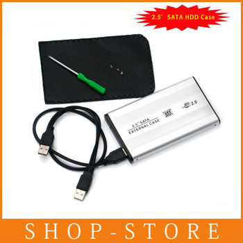 """Free Shipping External 2.5"""" USB 2.0 SATA hard disk driver HDD case enclosure"""