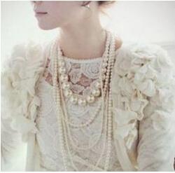free shipping Free Shipping&Multilayer Pearl Necklace Korea Fashion Elegant Princess Necklace(China (Mainland))